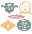 Set of vintage wedding labels for invitations vector image vector image
