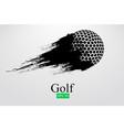 silhouette a golf ball vector image vector image