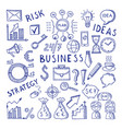 sketches at business theme creative vector image vector image