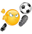 soccer emoticon vector image
