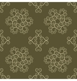 Spiral seamless lace pattern Vintage texture vector image