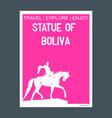 statue of boliva new york usa monument landmark vector image vector image