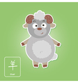 Stock icons with goat and chinese zodiac vector image vector image