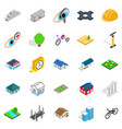 structure icons set isometric style vector image vector image