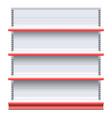 Supermarket Shelf vector image