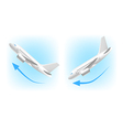 Takeoff and landing icons isolated on white vector image