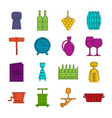 wine icons doodle set vector image vector image