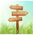 Wooden Sign Summer vector image vector image