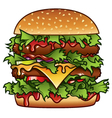 xxxl burger vector image vector image