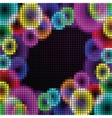Abstract rainbow mosaic vector image