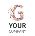 Alphabet particles logotype Letter-G vector image