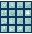 Set of doodle white icons abstract vector image