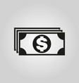 money icon dollar and cash coin currency bank vector image
