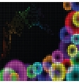 Abstract rainbow mosaic vector image vector image