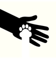 adoption of shelter dogs give love and caring vector image vector image