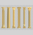 ancient columns realistic golden greek vector image vector image