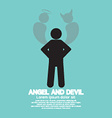 Angel And Devil Dark Side And Bright Side Of Human vector image vector image