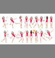 badminton girl player female playing vector image