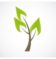 Beautiful Green Tree Icon on a White Background vector image