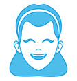 beautiful woman face smiling vector image vector image