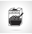 Black icon for breakfast cereal vector image