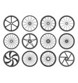bmx cycling wheels vector image vector image
