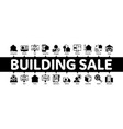 building house sale minimal infographic banner vector image vector image