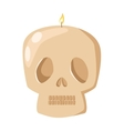 Burning skull candle vector image