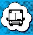 bus sign black icon in vector image vector image