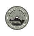 camping mountain expedition logo emblem vector image vector image