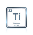 chemical element titanium from the periodic table vector image vector image