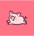 chinese new year 2019 greeting card with cute pig vector image vector image