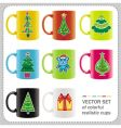Christmas cups vector | Price: 3 Credits (USD $3)