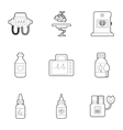 Clinic icons set outline style vector image vector image