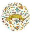 Concept hello card vector image
