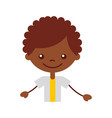 cute african boy character icon vector image