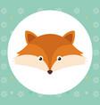 cute fox head tender character vector image vector image