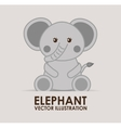 elephant cute vector image vector image