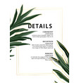 evergreen palm leaves adventure poster design in vector image