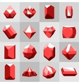 Flat icon set Diamond gemstones and stones in vector image vector image