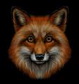 fox graphic color portrait a foxs head vector image vector image