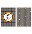funny happy halloween card and pattern vector image
