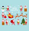 funny santa cute santa claus vector image vector image