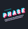 glitched display font design alphabet typeface vector image