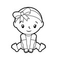 happy and smiling baby girl adorable vector image vector image