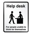 Help Desk Information Sign vector image vector image
