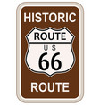 historic route 66 vector image vector image