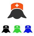 hospital nurse head flat icon vector image vector image