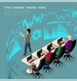 izometric trader school vector image
