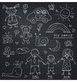 Kids Drawings doodle set Vintage for vector image vector image